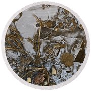 Apparitions On Ice Round Beach Towel
