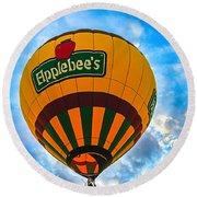 Appelbee's Hot Air Balloon Round Beach Towel