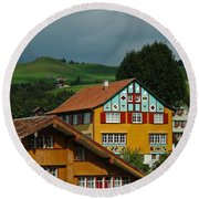 Appenzell Famous Windows Round Beach Towel