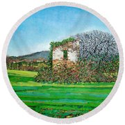 Appia Antica, House, 2008 Round Beach Towel