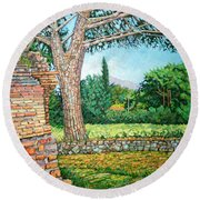 Appia Antica, View, 2008 Round Beach Towel