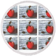 Apple Collage Round Beach Towel
