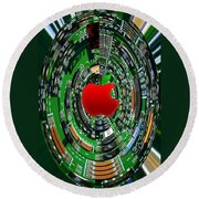 Apple Computer Abstract  Round Beach Towel