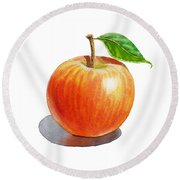 Artz Vitamins Series An Apple Round Beach Towel