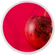 Apple Love From Tattoo Series Round Beach Towel