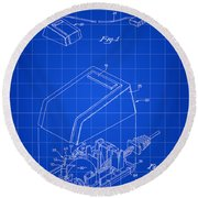 Apple Mouse Patent 1984 - Blue Round Beach Towel