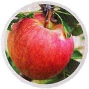 Apple On The Tree Round Beach Towel