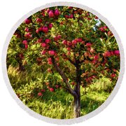 Apple Orchard II Round Beach Towel