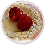 Apple Still Life 3 Round Beach Towel