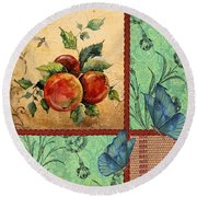 Apple Tapestry-jp2203 Round Beach Towel