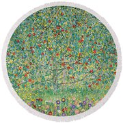 Apple Tree I Round Beach Towel