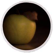 Apple With Leaf Round Beach Towel