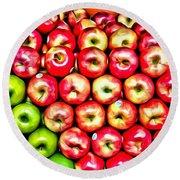 Apples And Oranges Round Beach Towel