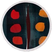 Apples And Oranges Round Beach Towel
