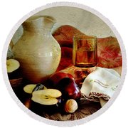 Apples Today Round Beach Towel