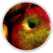 Apples Two Round Beach Towel
