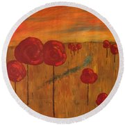 Appletrees Round Beach Towel