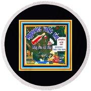 Apportez  Votre Vin Vintage French Bistro Signage Paris Style Menu Poster Decor Painting Cspandau Round Beach Towel