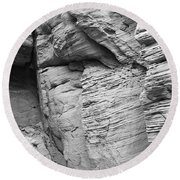 Approach To Tent Rocks Round Beach Towel