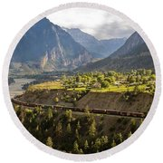 Approaching Lillooet Round Beach Towel