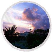 Approaching Storm Palmas Del Mar Round Beach Towel