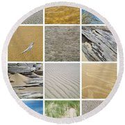April Beach Round Beach Towel by Michelle Calkins