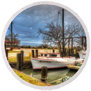 April Dawn Poquoson Virginia Round Beach Towel