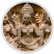 Apsara - Angkor Wat Round Beach Towel