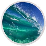 Aqua Blade Round Beach Towel by Sean Davey