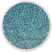 Aqua Diamonds Round Beach Towel