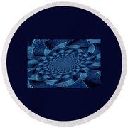 Aqua Tint Memories Round Beach Towel