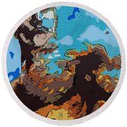 Aquaman - Reflections Round Beach Towel