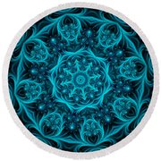 Aquamarine Round Beach Towel