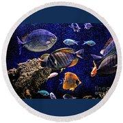 Aquarium  Round Beach Towel