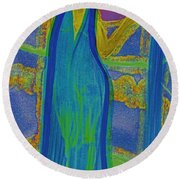 Aquarius By Jrr Round Beach Towel