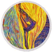 Arabesque Flame Round Beach Towel