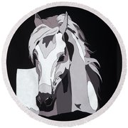 Arabian Horse With Hidden Picture Round Beach Towel
