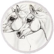 Arabian Horses 2014 02 25 Round Beach Towel