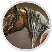 Arabian Mare Round Beach Towel