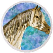 Arabian Sketch  Digital Effect Round Beach Towel