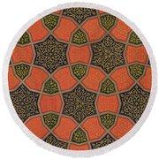 Arabic Decorative Design Round Beach Towel