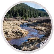 Arapaho National Forest Round Beach Towel
