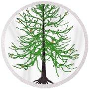 Araucaria Prehistoric Tree Round Beach Towel