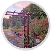 Arbor And Fall Colors 2 Round Beach Towel