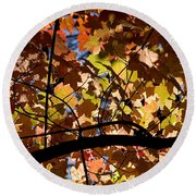 Arboretum Fall Round Beach Towel