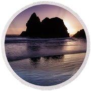 Arcadia Silhouette Round Beach Towel