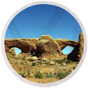 Arch 23 Round Beach Towel