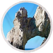 Arch At Land's End Round Beach Towel
