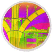 Arch Four - Architecture Of New York City Round Beach Towel
