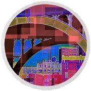Arch One - Architecture Of New York City Round Beach Towel